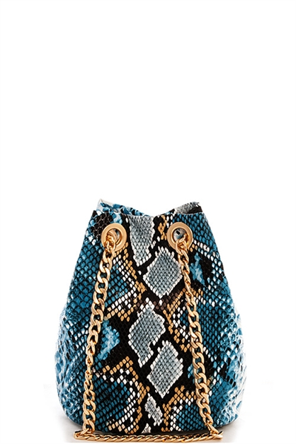 Snake Pattern Shoulder Bag - orangeshine.com