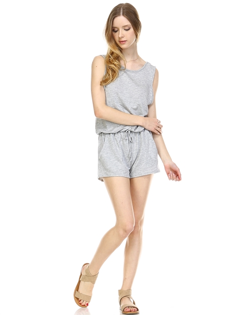 FRENCH TERRY OPEN BACK ROMPER - orangeshine.com
