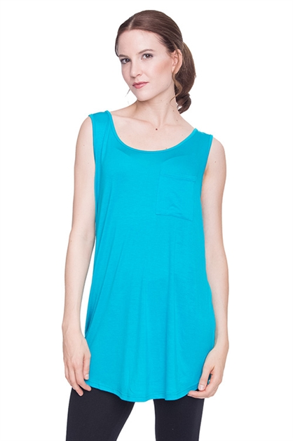 SLEEVELESS TUNIC TOP WITH POCK - orangeshine.com
