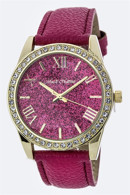 Glittered Crystal  Watch - orangeshine.com