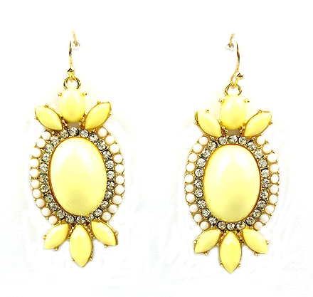 Cream Earring - orangeshine.com