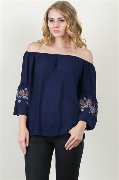 OFF SHOULDER TUNIC TOP - orangeshine.com