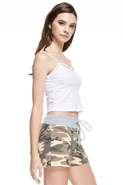 French Terry Army Shorts - orangeshine.com