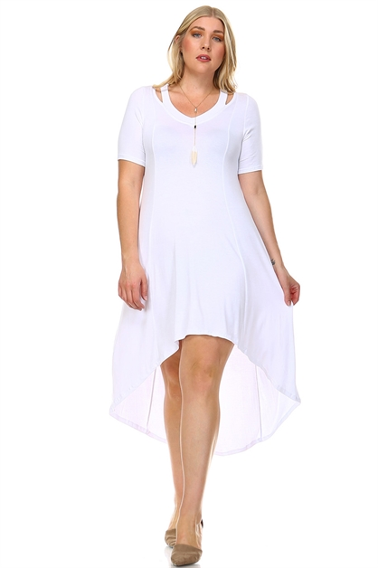 V-RAYON HIGH/LOW DRESS - orangeshine.com