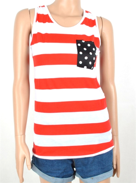 USA American Flag Tank Top - orangeshine.com