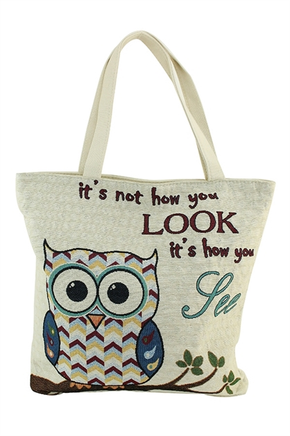 owl tote bag  - orangeshine.com