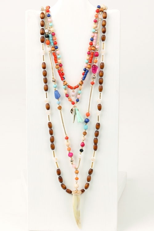 how to make fabric tassel necklace