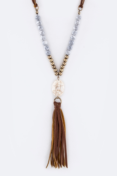 Stone Pebble Necklace - orangeshine.com