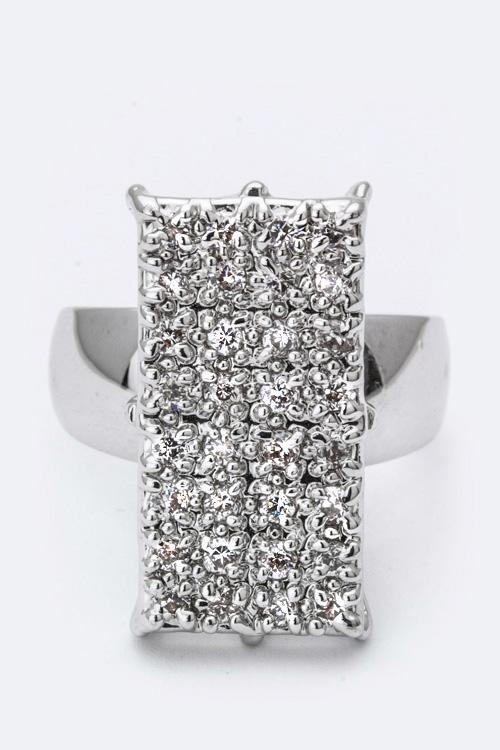 Cubic Zirconia Ring Vanilla Wow