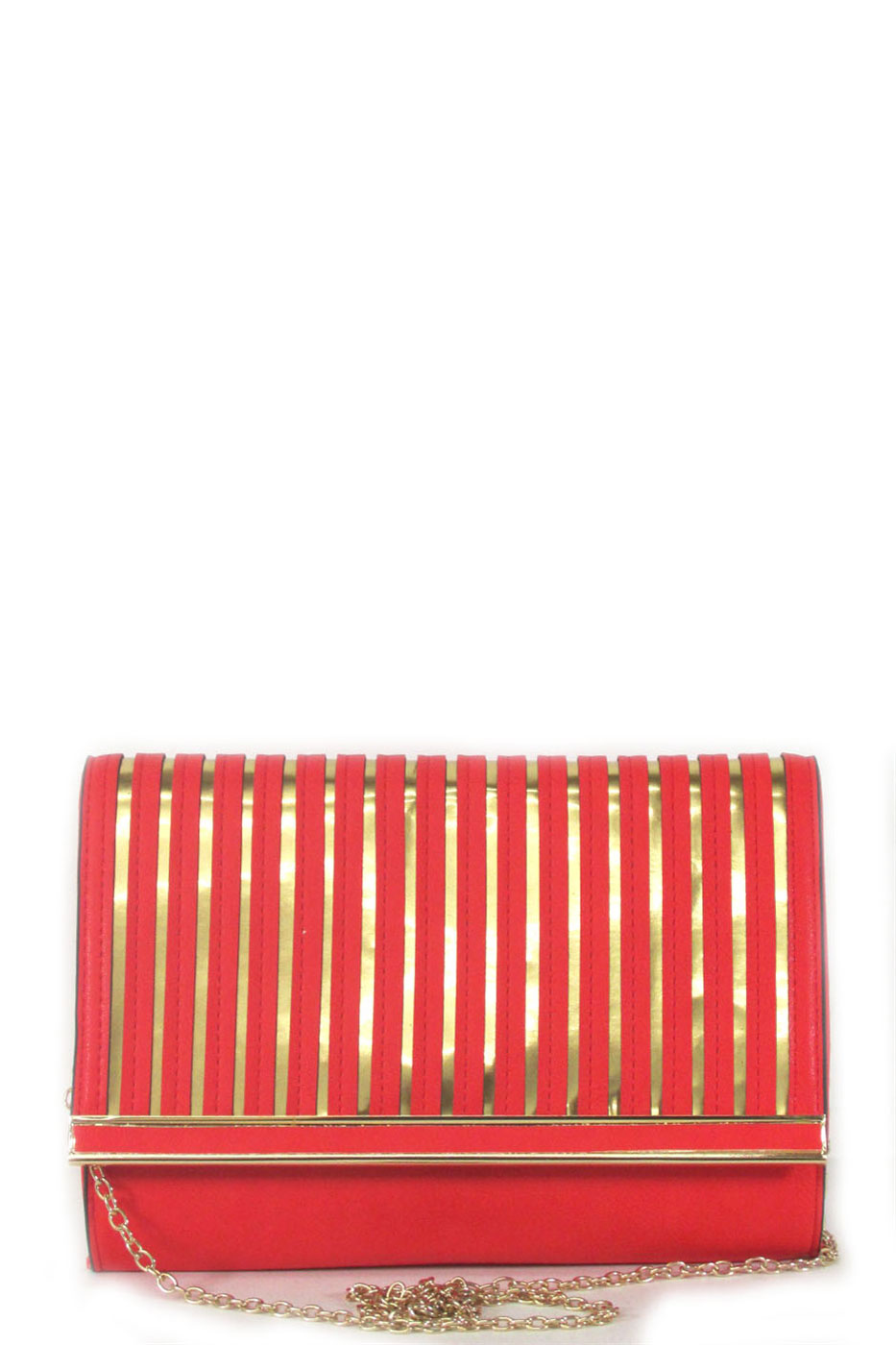 stripes clutch - orangeshine.com