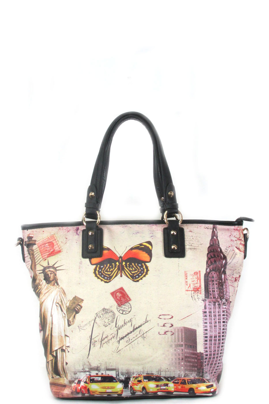 New york print tote - orangeshine.com