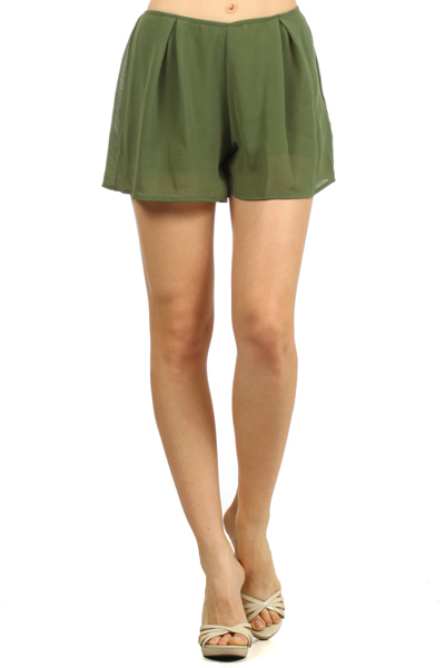 AIR FLOW SHEER PLEATED SHORTS - orangeshine.com