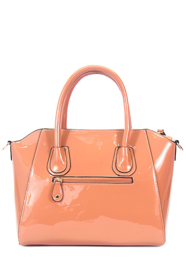 Patent Fashion Handbag - orangeshine.com