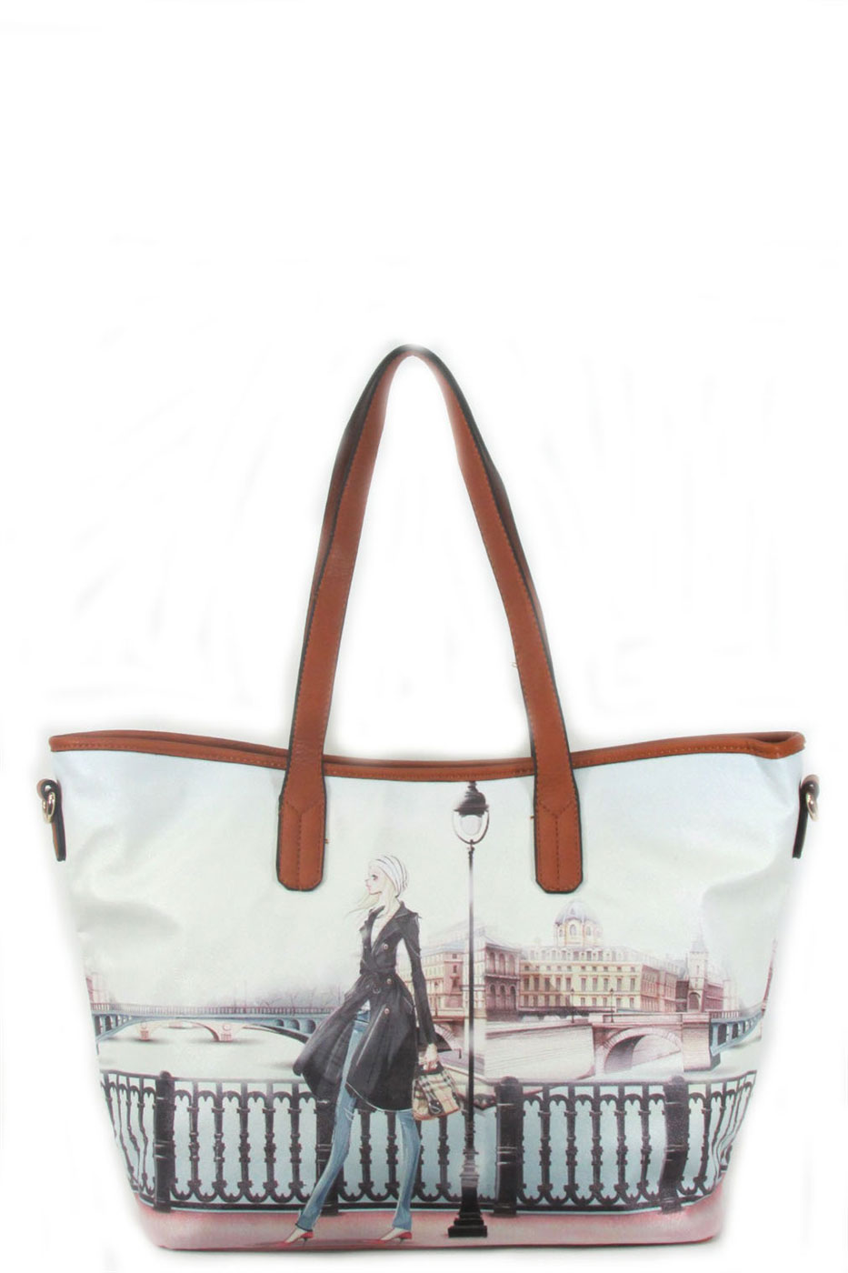 Paris print fashion tote - orangeshine.com