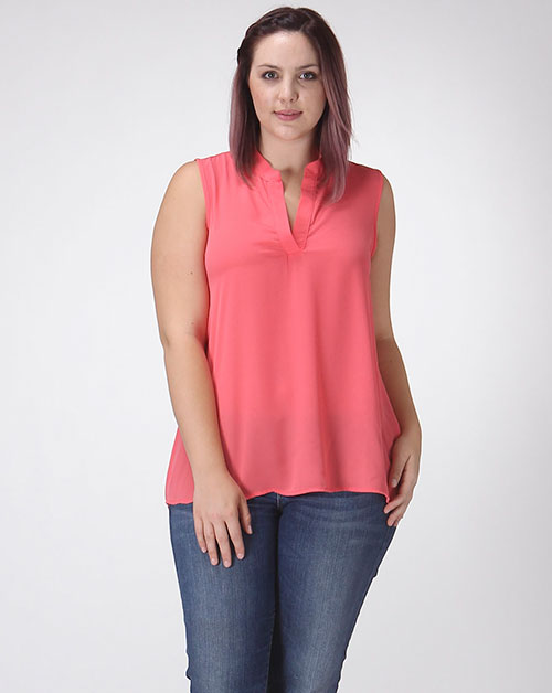 SLEEVELESS CHIFFON TOP - orangeshine.com