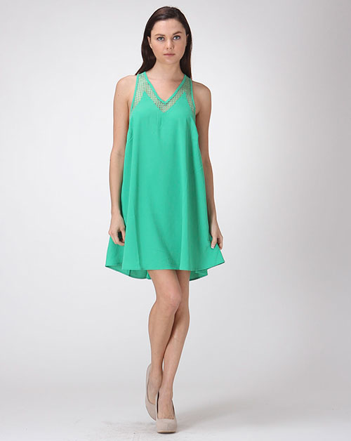 Emerald Swing Dress - orangeshine.com