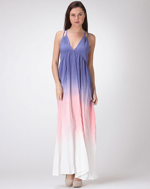OMBRE GRECIAN W/ LOW BACK DETAIL MAXI - orangeshine.com
