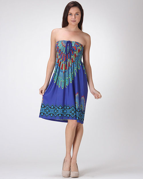 Bohemian Smock Mini Dress - orangeshine.com
