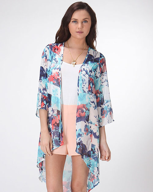 FLOWER CHIFFON DUSTER - orangeshine.com