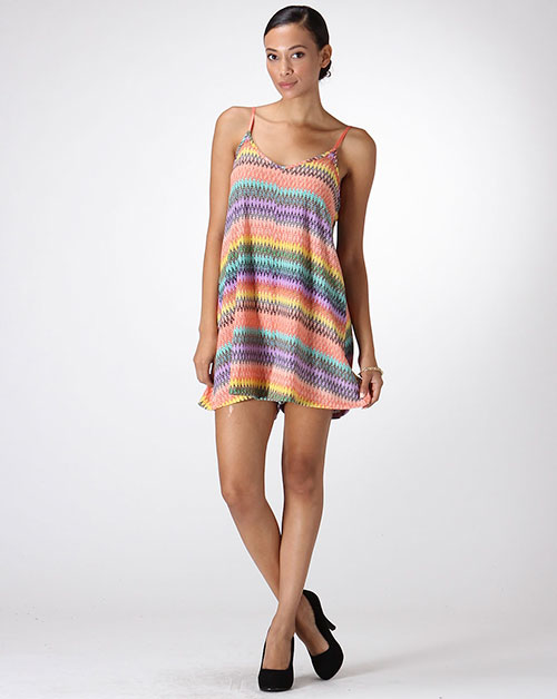 MULTI COLORED FLOWY ROMPER - orangeshine.com