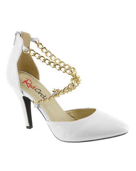 CROSS CHAINED D`ORSAY STYLE HEEL - orangeshine.com