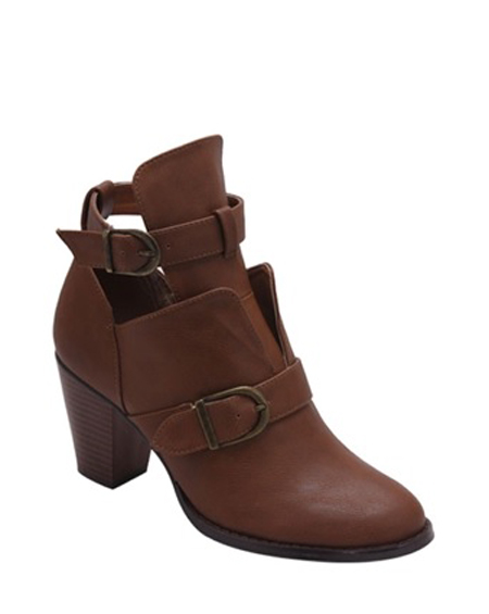 BUCKLED ANKLE BOOT WITH HEEL - orangeshine.com