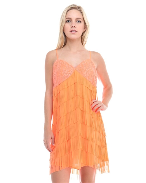SOLID SPAGHETTI STRAP DRESS - orangeshine.com