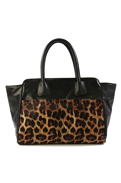 LEOPARD INSPIRED SATCHEL - orangeshine.com