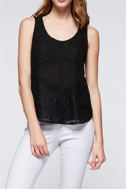 LACE DETAIL TOP - orangeshine.com