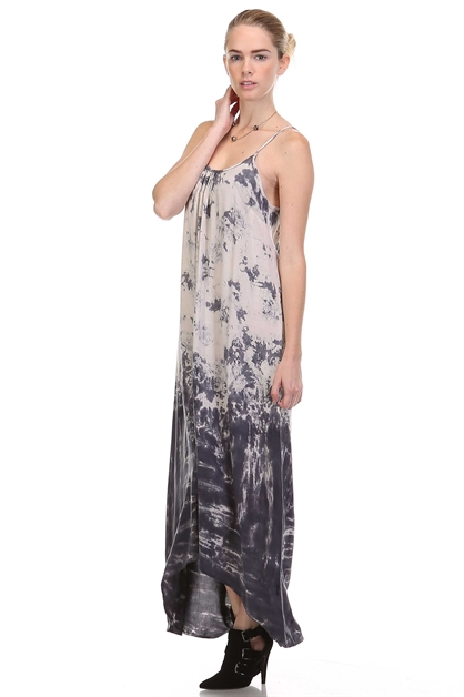 TIE DYE MAXI DRESS - orangeshine.com