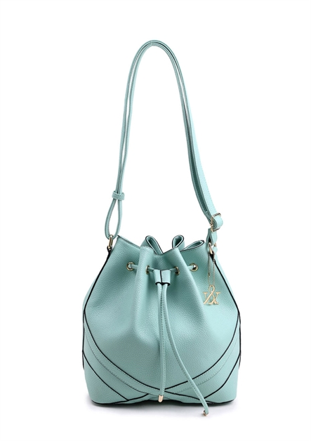 Drawstring Bucket Shoulder Bag - orangeshine.com