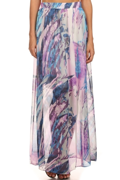 Abstract maxi skirt - orangeshine.com