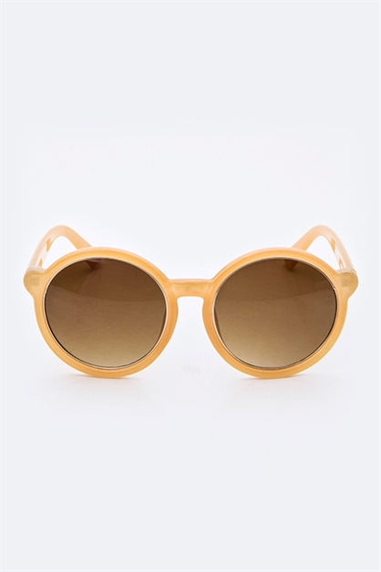 Retro Fashion Round Sunglasses - orangeshine.com