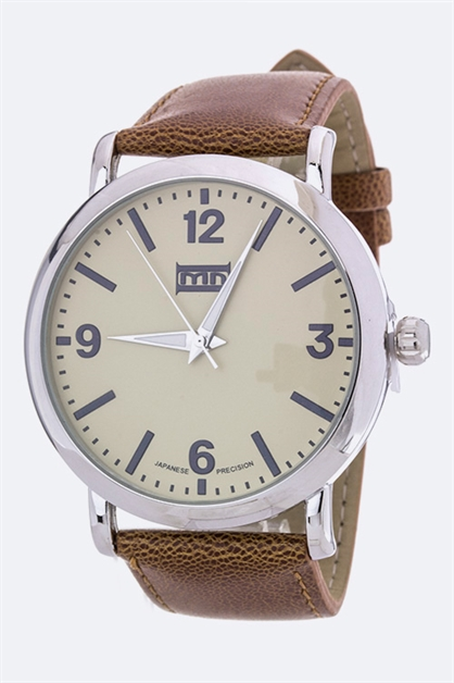 Leather Band Unisex Watch - orangeshine.com