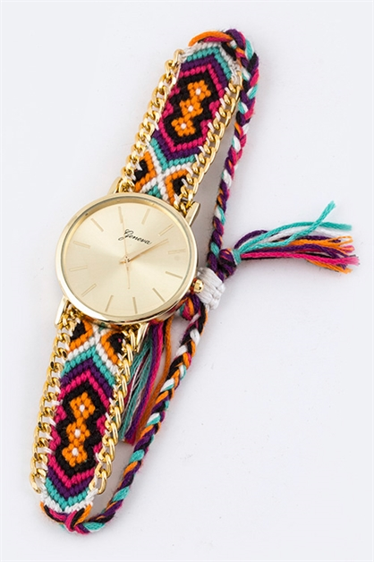 Tribal Pattern Misanga Watch - orangeshine.com