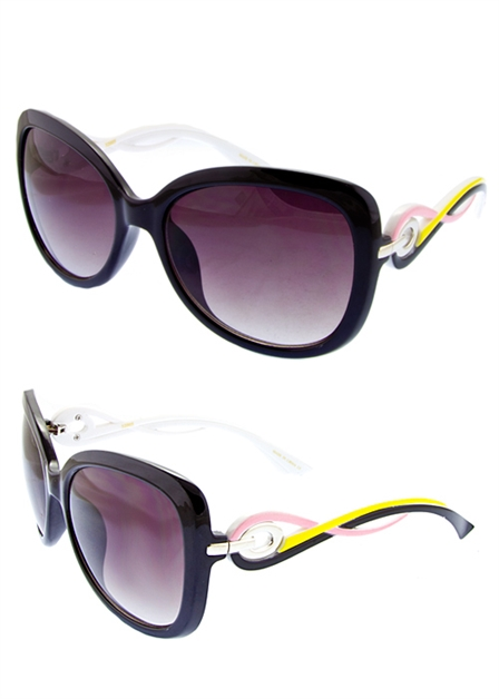 Swirl Temple Modish Sunglasses - orangeshine.com