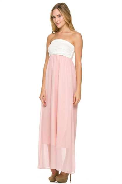 COLOR BLOCK CHIFFON MAXI - orangeshine.com