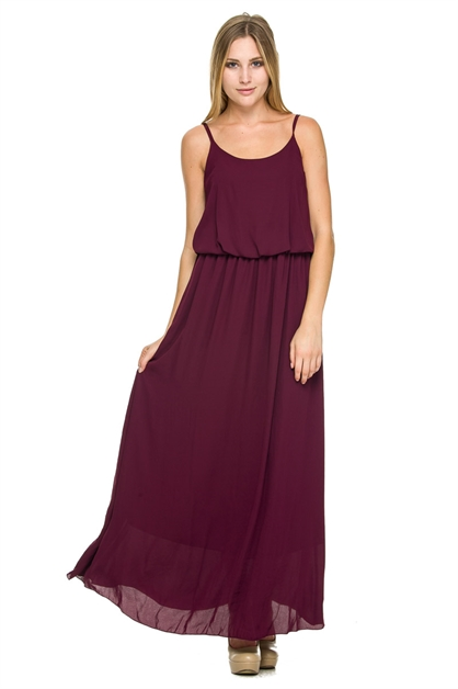 10SPHGHT STRAP RNCK MAXI DRESS - orangeshine.com