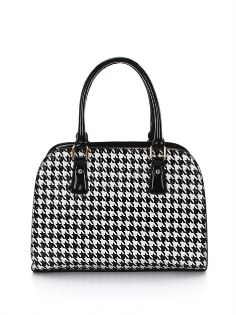 Houndstooth Frame Shoulder Bag - orangeshine.com