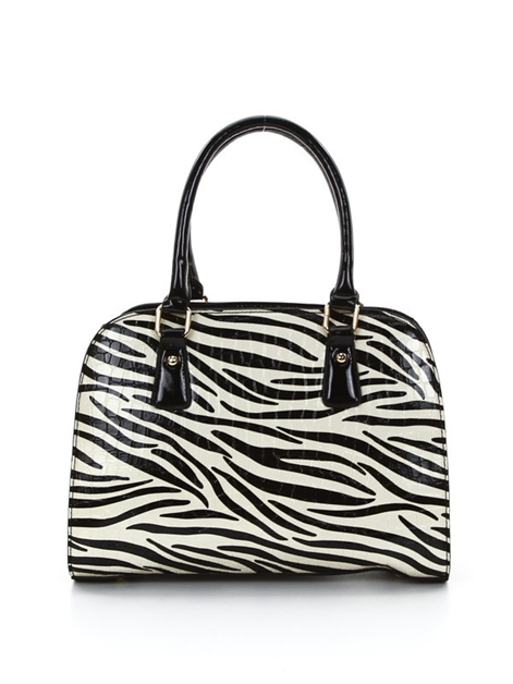 Zebra Frame Shoulder Bag - orangeshine.com
