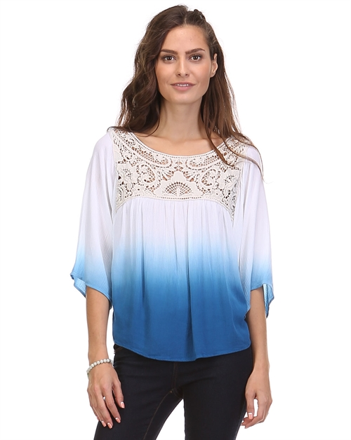 Sky Blue ombre top - orangeshine.com