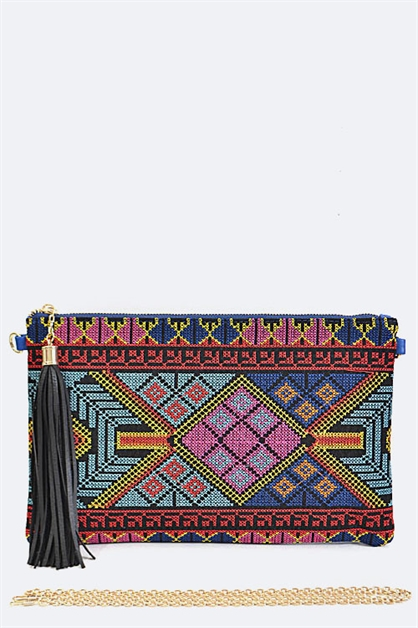 Tribal Design Pouch - orangeshine.com
