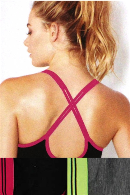 SPORT BRA STRAPPY BACK - orangeshine.com