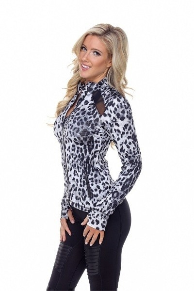 Double Cut Jacket in Cheetah - orangeshine.com