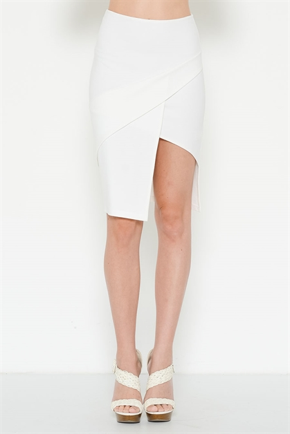 PONTI SCALLOP SIDE SKIRT - orangeshine.com