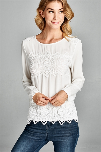 LACE DETAILED TOP - orangeshine.com