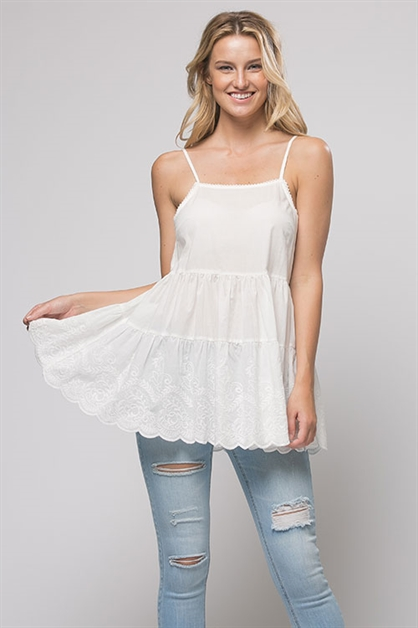 EMBROIDERY BABYDOLL TOP - orangeshine.com