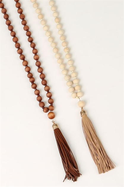 LONG NECKLACE W/SUEDE TASSEL - orangeshine.com