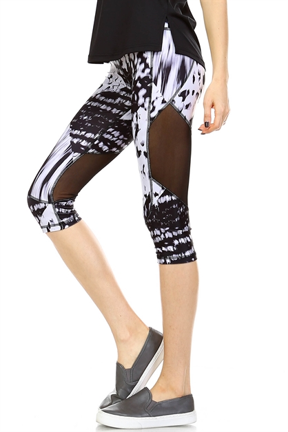 MESH PANEL LEGGINGS - orangeshine.com
