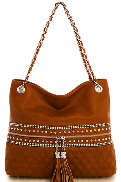 Rhinestone Shoulder Bag - orangeshine.com